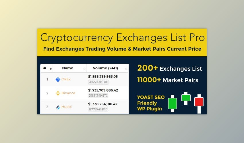 cryptocurrency exchanges list pro wordpress plugin nulled