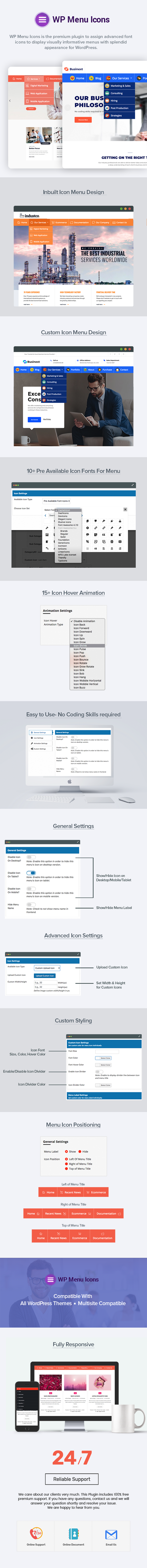 WP Menu Icons - Effectively Add & Customize Icons For WordPress Menus - 1