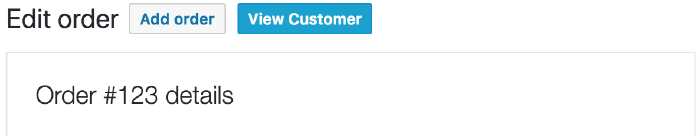 View Customer Profile