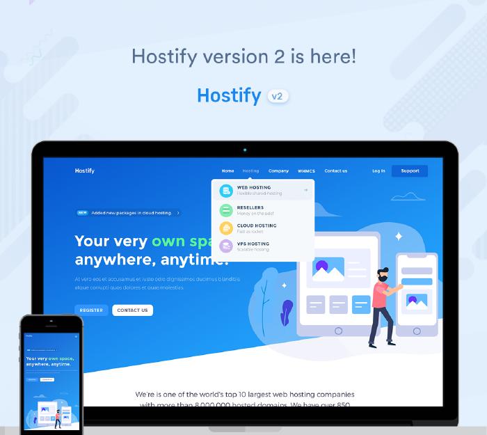 Hostify — Hosting HTML & WHMCS Template - 2