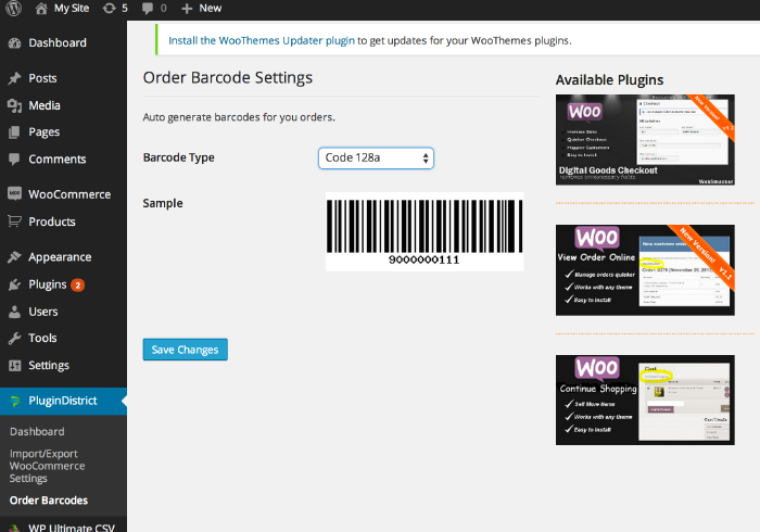 Order Barcodes for WooCommerce - 5