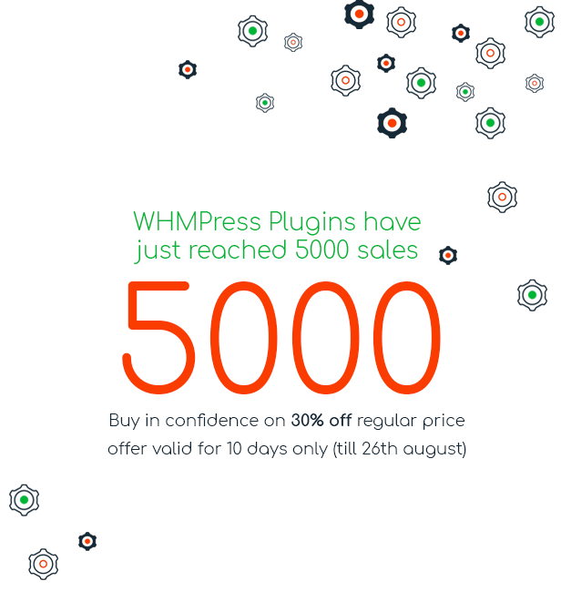 5000 Sales for WHMCS-WP Integration plugins
