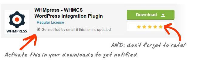 Rate WHMpress - WHMCS WordPress Integration Plugin