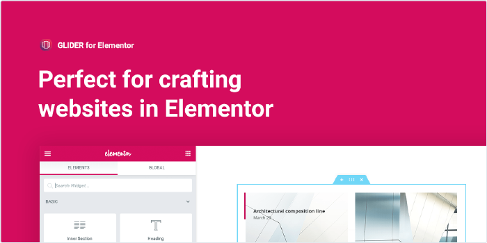 Perfect for crafting websites in Elementor