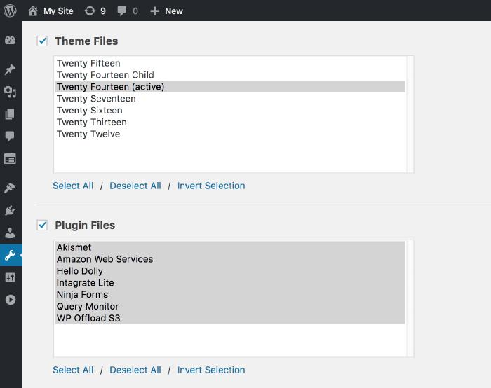 Theme & Plugin Files Addon