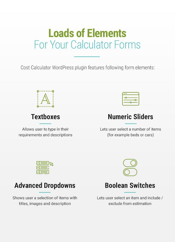 Cost Calculator WordPress Plugin - 5