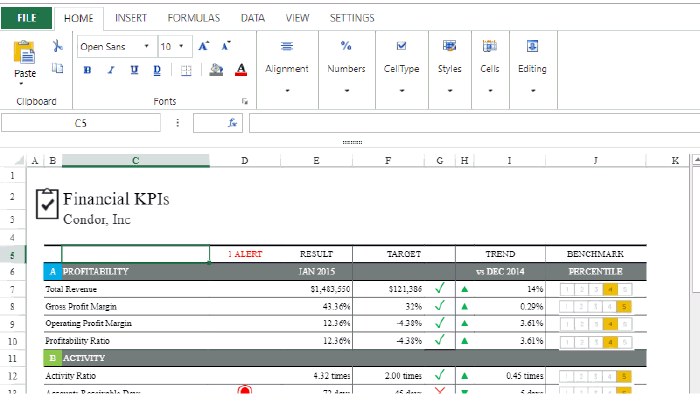 Design Excel-like JS spreadsheets in moments