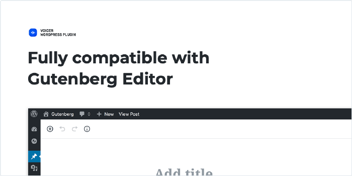 Fully compatible with WordPress Gutenberg Editor