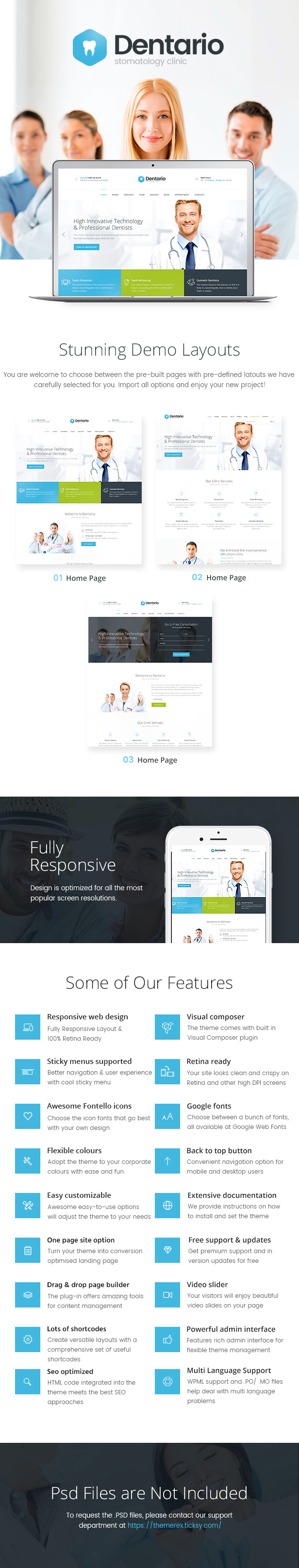 Dentario | Dentist, Medical & Healthcare WordPress Theme + RTL - 1