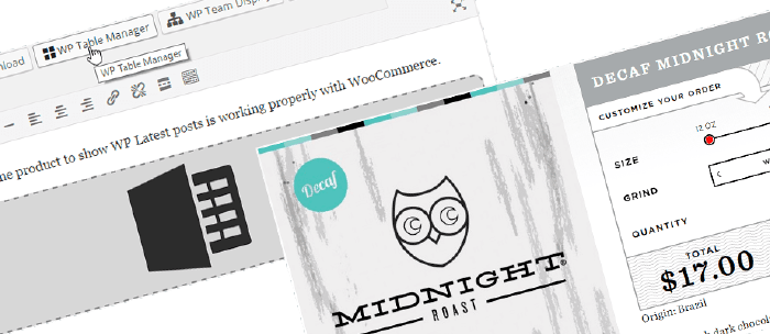 WooCommerce table and 3rd party plugin compatible