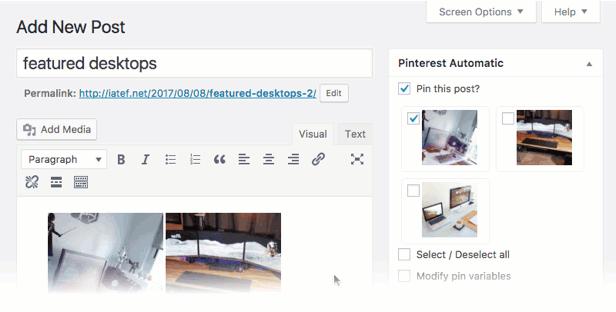 Pinterest Automatic Pin Wordpress Plugin - 2