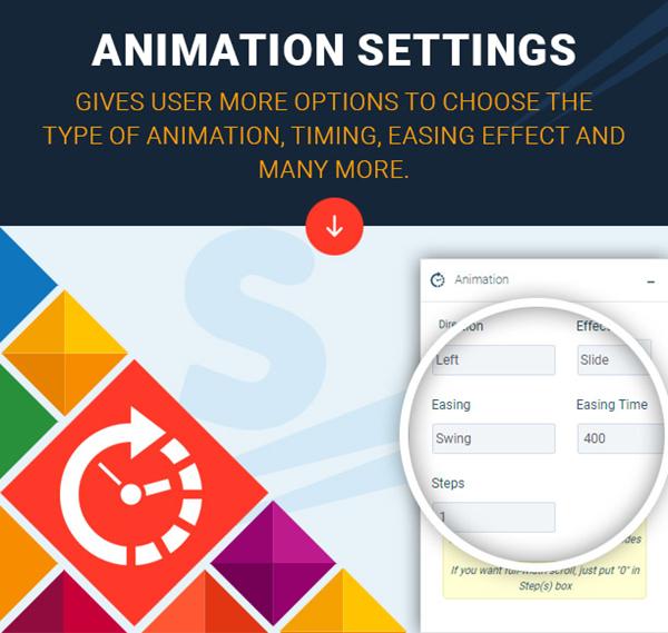 Super Carousel Animation Settings