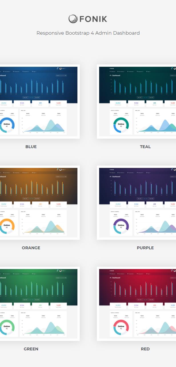 Fonik - Responsive Bootstrap 4 Admin Dashboard - 1