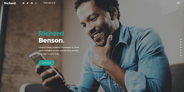 Richard - Easy Onepage Personal Template - 4