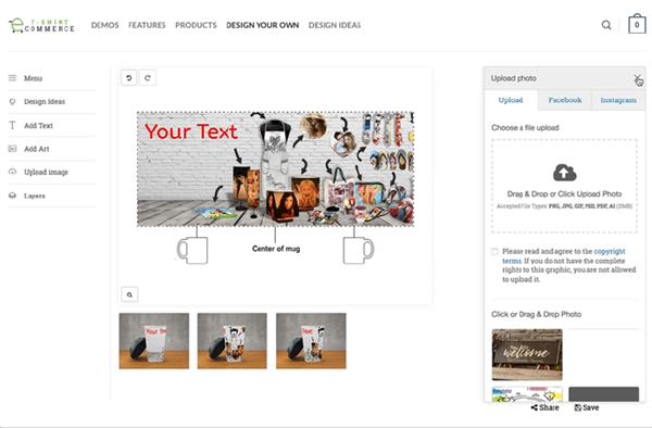Design mug 3D WooCommerce/WordPress | Opencart | Prestashop
