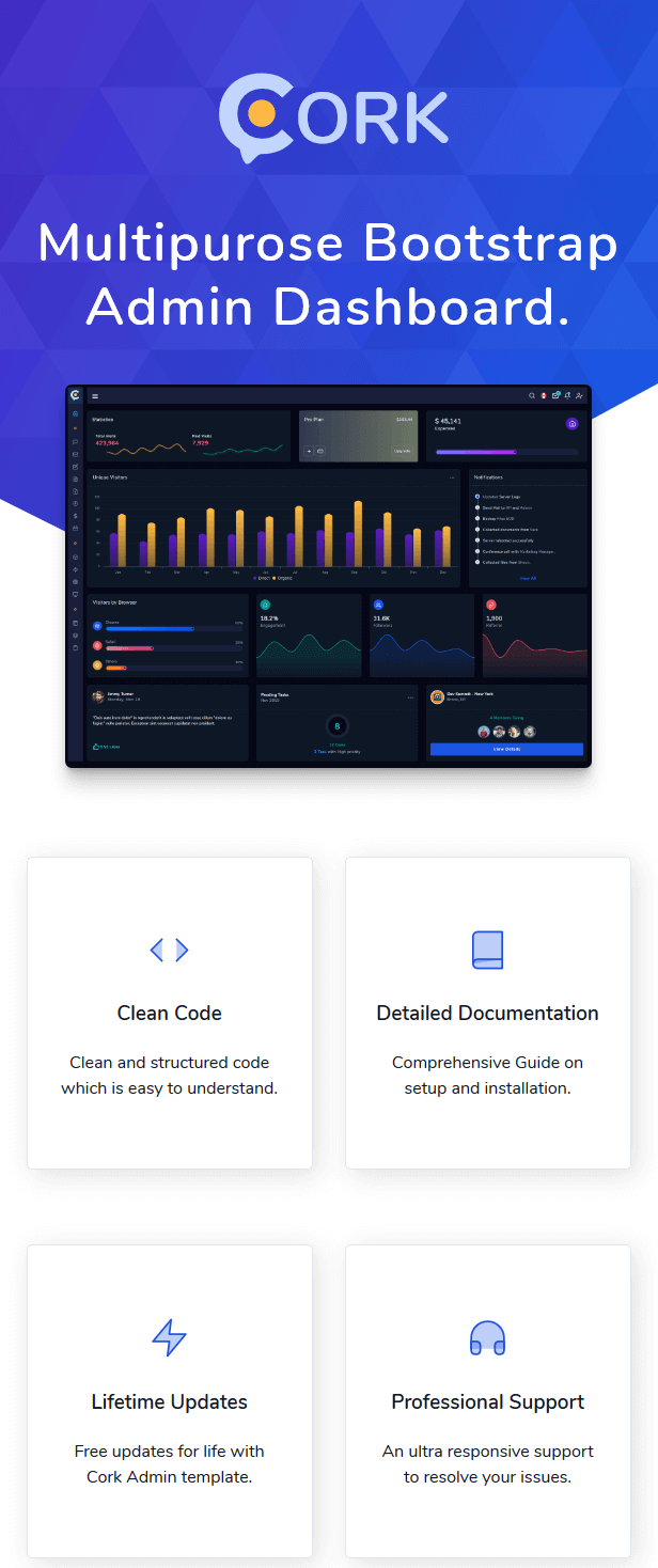 Cork - Responsive Admin Dashboard Template - 1