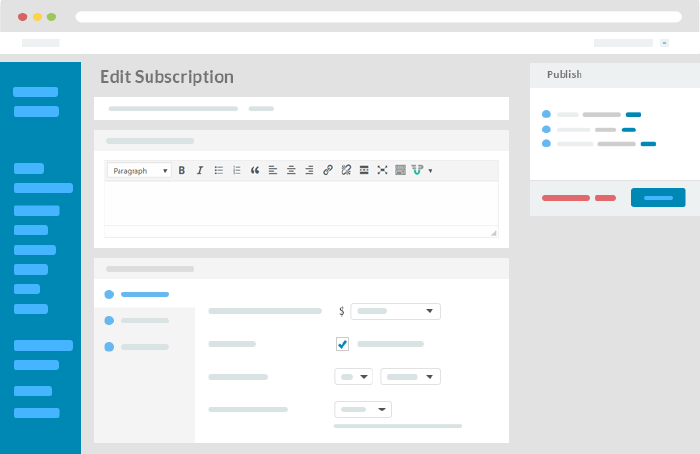 wpuf Subscription Backend
