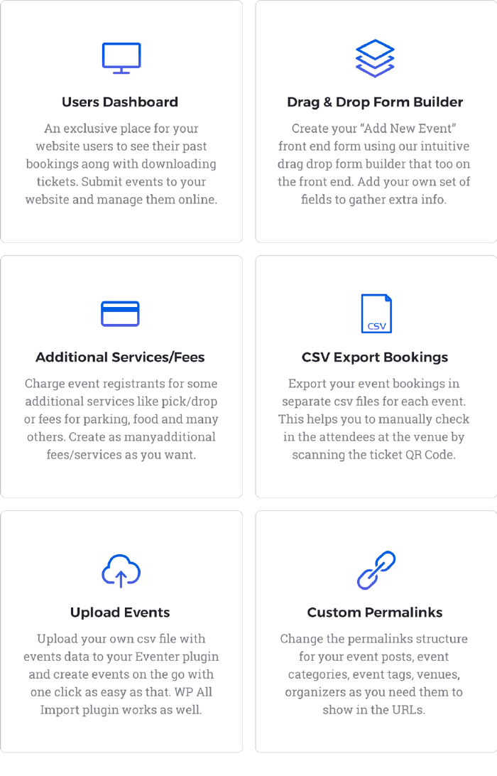 Eventer Core Features