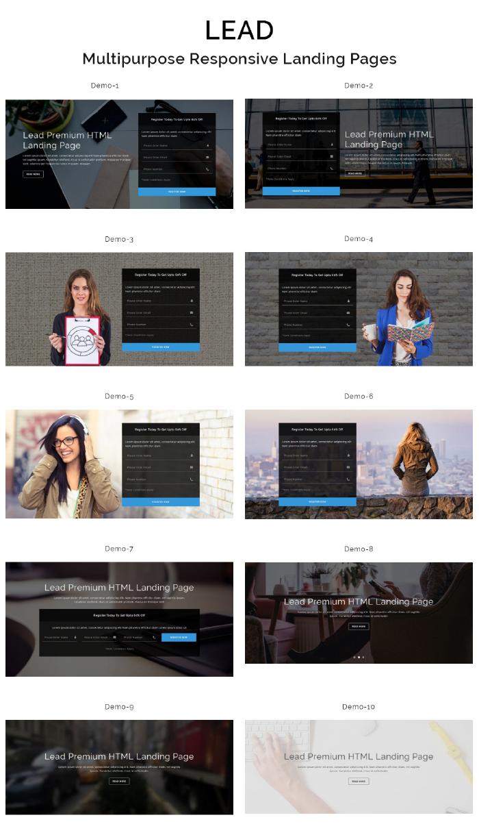 LEAD - Multipurpose Responsive HTML Landing Page