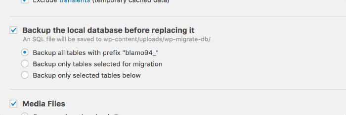 Backup your database before replacing it