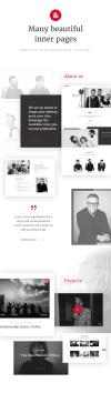 Filmmaker Director Film Studio WordPress Theme - Beautiful Inner pages