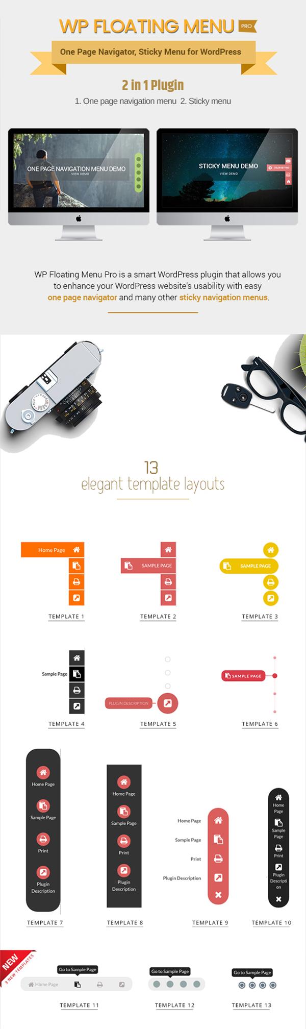 WP Floating Menu Pro - One page navigator, sticky menu for WordPress - 2