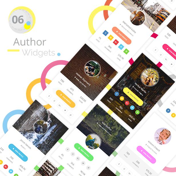 Youzer Author Widgets