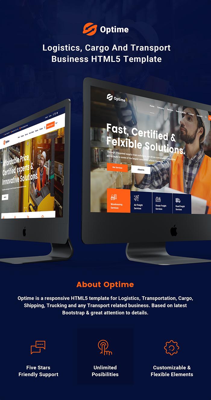 Optime - Logistics & Transportation HTML5 Template - 5