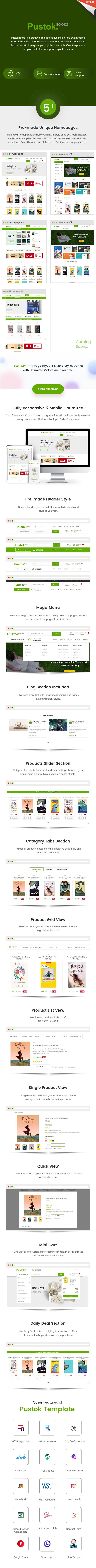 Book Store HTML Template - Pustok - 1