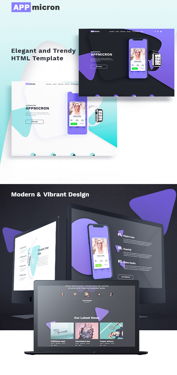Appmicron - App & Product Landing page - 4
