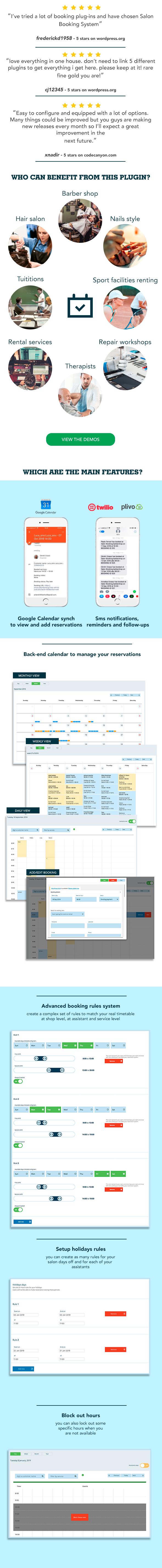 Salon Booking Wordpress Plugin - 1