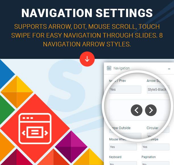 Super Carousel Navigation Settings