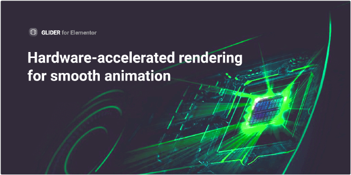 Hardware-accelerated rendering for smooth animation