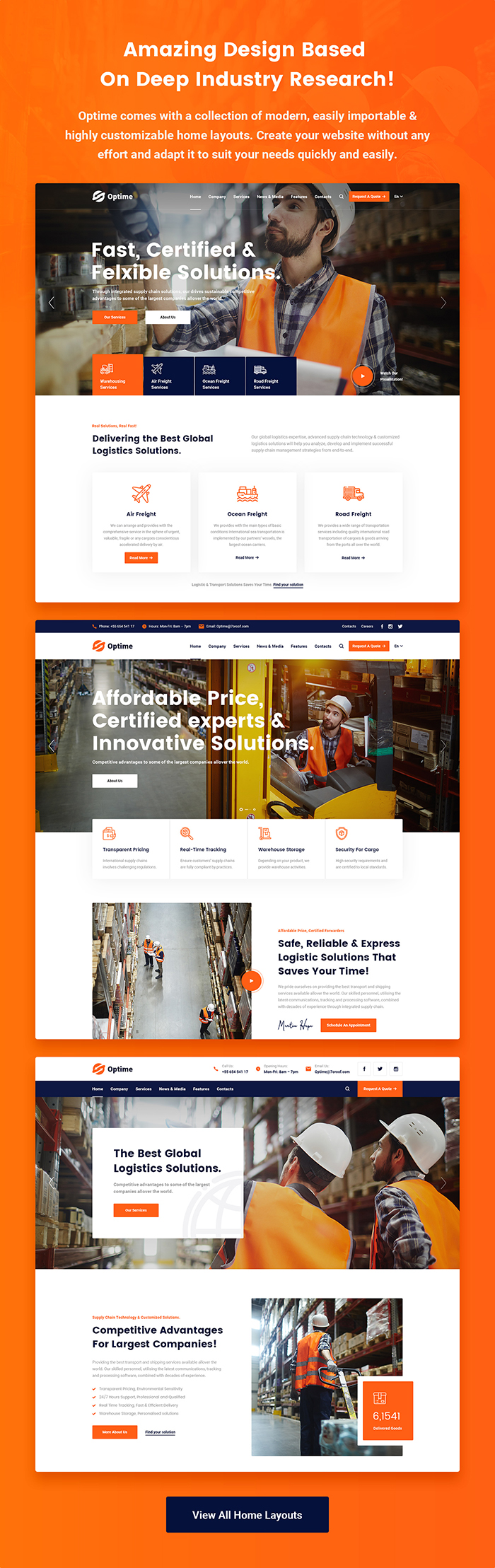 Optime - Logistics & Transportation HTML5 Template - 6