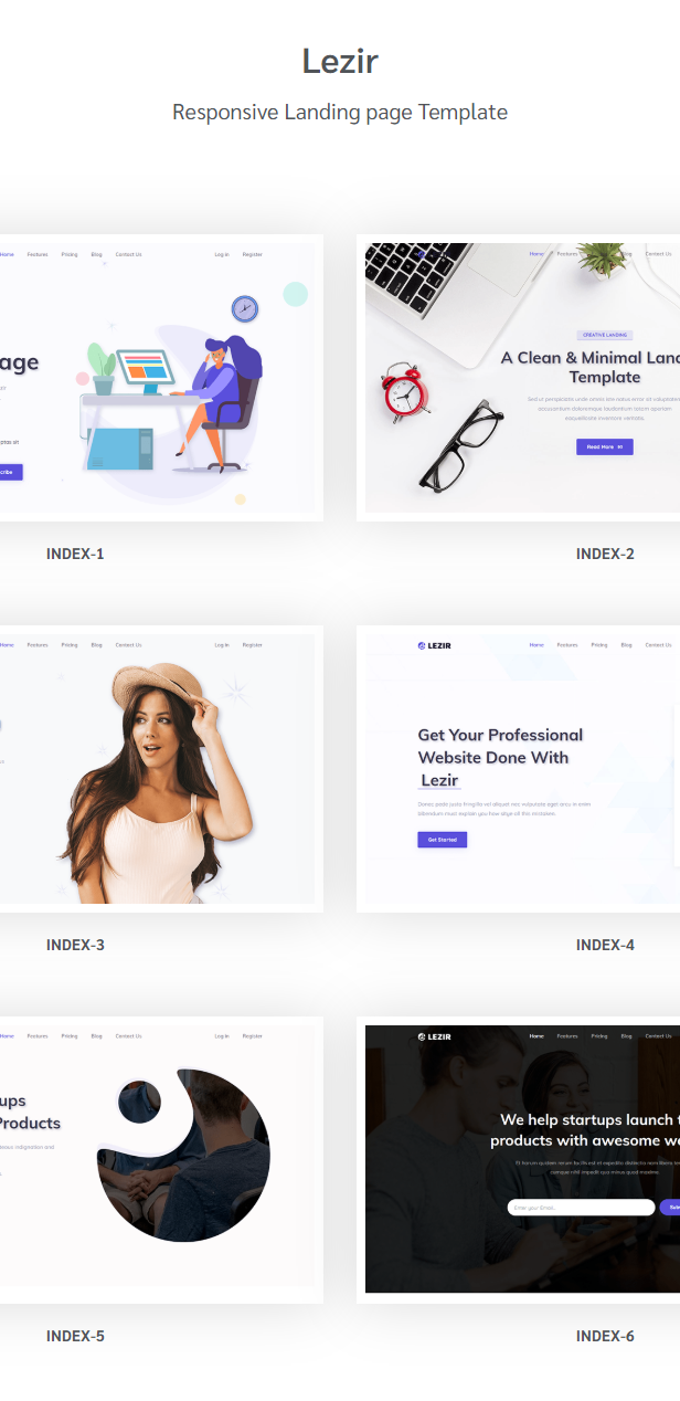 Lezir - Landing Page Template - 1