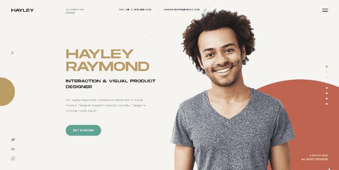 HAILEY - Creative Personal CV/Resume HTML Template - 4