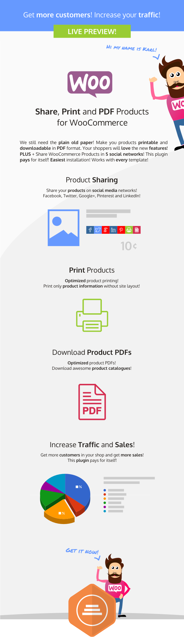 Share, Print and PDF Products for WooCommerce - 3