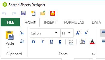 No-code design with Spread Designers in JavaScript spreadsheet
