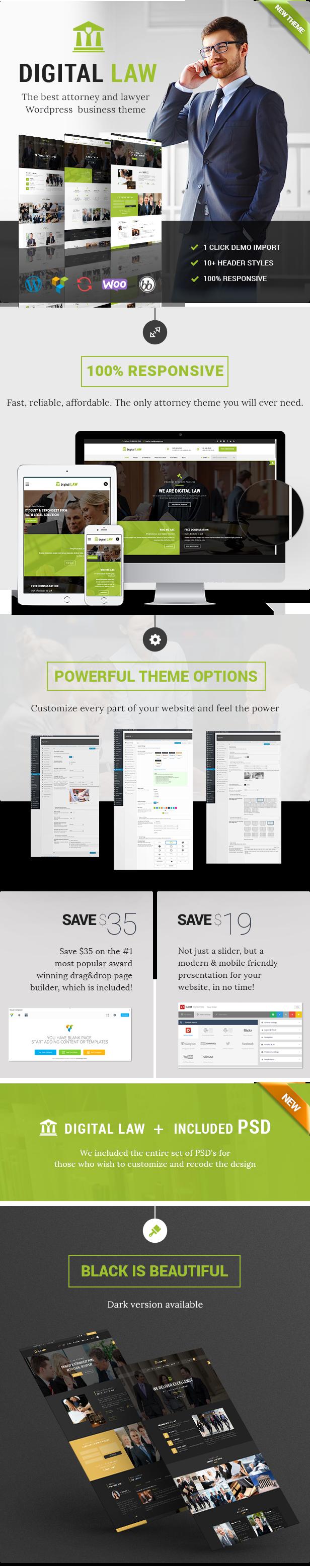 Digital Law WordPress Theme