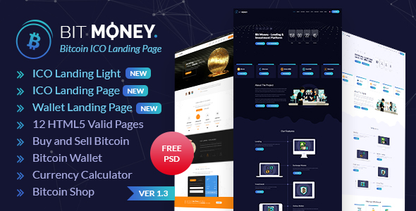 Bit Money - Bitcoin Cryptocurrency ICO Landing Page HTML Template - 11