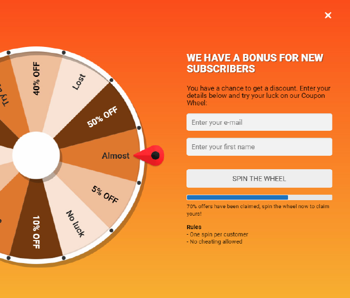 Coupon Wheel For WooCommerce and WordPress - 9
