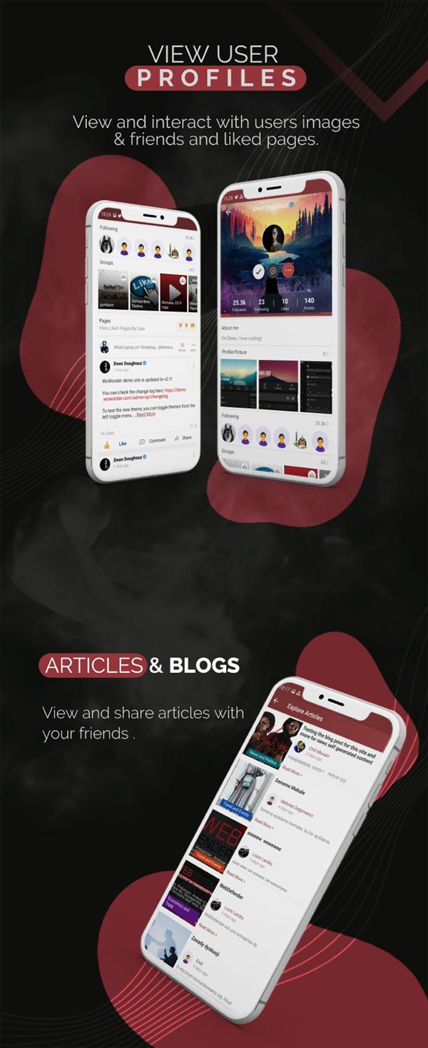 Mobile Native Social Timeline Applications - For WoWonder Social PHP Script - 4