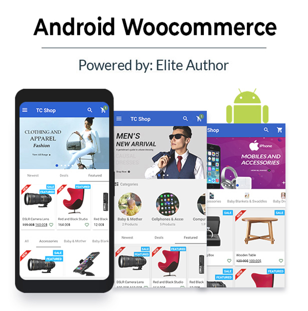 Android Woocommerce - Universal Native Android Ecommerce / Store Full Mobile Application - 1
