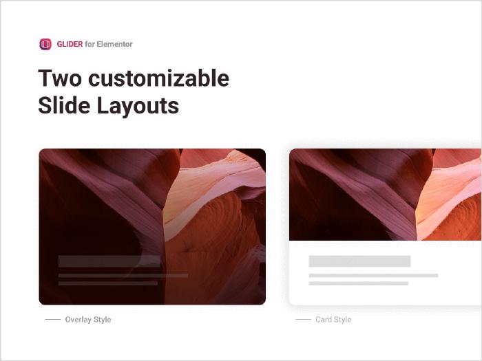 Two customizable Slide Layouts
