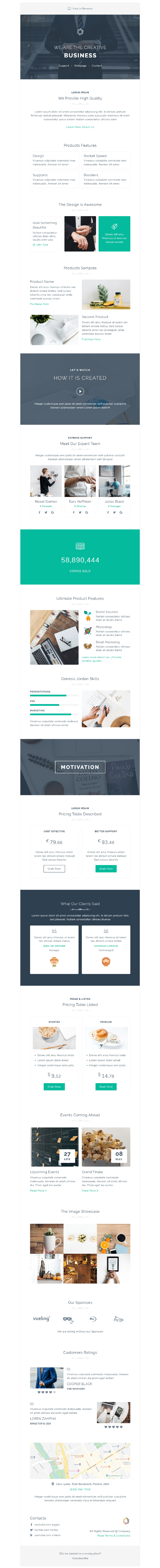 Mzone Responsive Newsletter Email Template For Business - 12