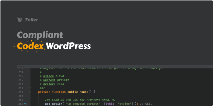Codex WordPress compilant