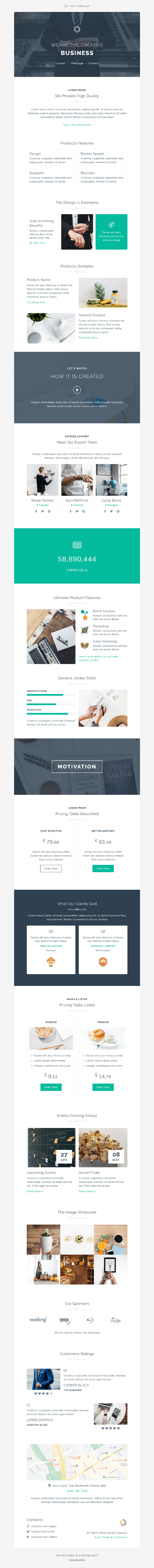 Mzone Responsive Newsletter Email Template For Business - 8