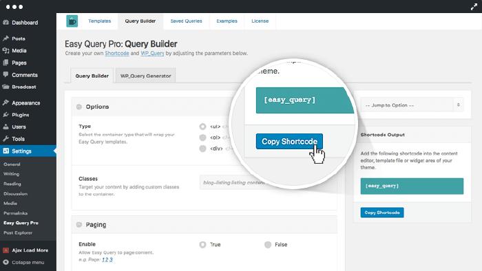 Easy Query Query Builder