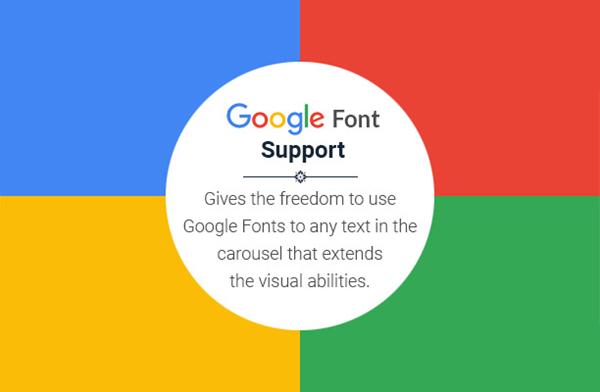 Super Carousel Google Font Support