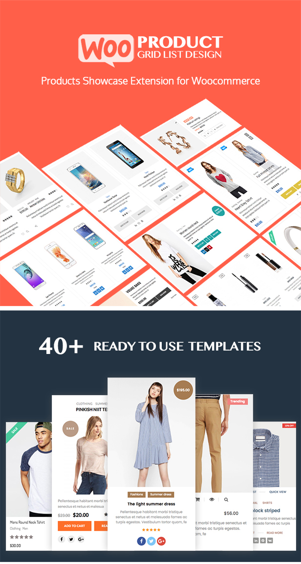WOO Product Grid/List Design- Responsive Products Showcase Extension for Woocommerce - 1